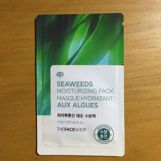 The face shop seaweeds hydrating moisturizing pack (sample size)