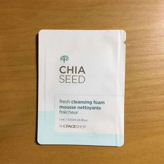 The face shop chia seed cleansing foam mousse (sample size)