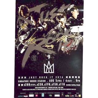 Mayday 五月天 - [Autographed] Just Rock It 2016 Singapore Poster