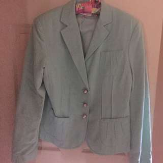 Waist Length Aqua Jacket Sz 10
