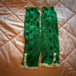 Kelly Green Leg Warmers