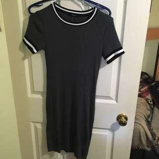 Grey Knit Body Con Dress