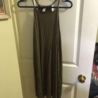 Silky Green Short Dress