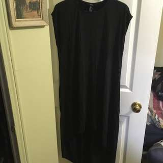 Smooth Black High Low Dress