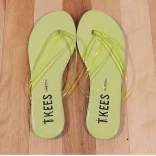 TKees Sheer Light Green Sandals Size 5/5.5