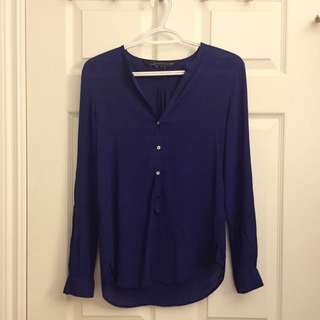 Zara Royal Blue Blouse (XS)