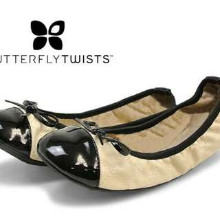 Butterfly Twist Folding Ballerina Flat