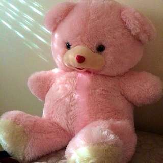 Large Fluffy Pink Bear