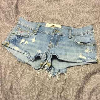 HOLLISTER Denim Shorts- Size 0