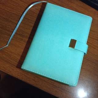 INDIGO Mint Hardcover Notebook With Magnetic Strap