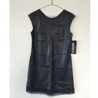 NEW - Pleather Shift Dress