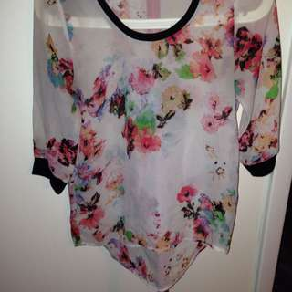 🌸 Floral Light Weight(chiffon/cheer) Shirt