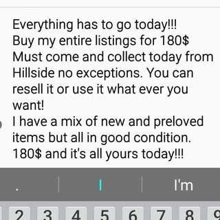 Everything must go!!!! Today!!!