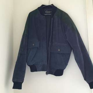 Authentic Suede Vintage Bomber Jacket