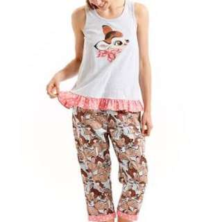 Peter Alexander Bambi Cute Disney Pyjama Set PJ Frill Bow