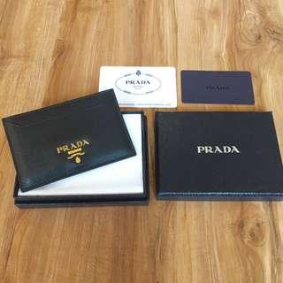 Prada Saffiano Metal Card Holder