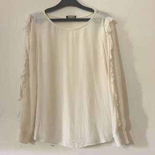 Massimo Dutti Shirt With Frills