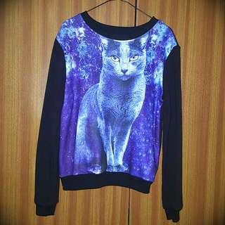 Galaxy Cat Top