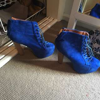 Platform Wedge Boots Perfect Condition Only Worn Once