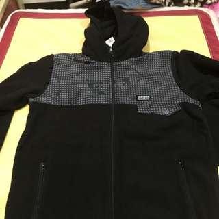 (降價)Waters&army  黑色 風衣 外套 保暖 毛 M號