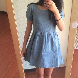 Pazzo牛仔洋裝裙