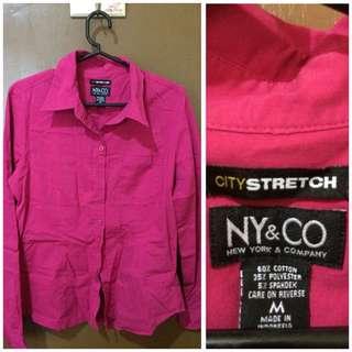 fuschia pink long sleeves