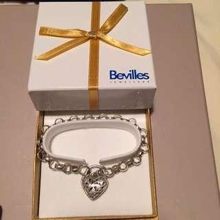 Silver Bracelet With Love Heart Padlock