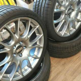 BBS CK Rims with tyres