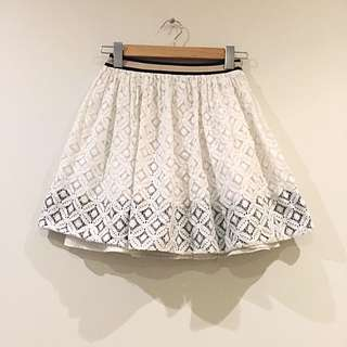 Corey Lynn Calter White Lace Skirt Size 2 / 6