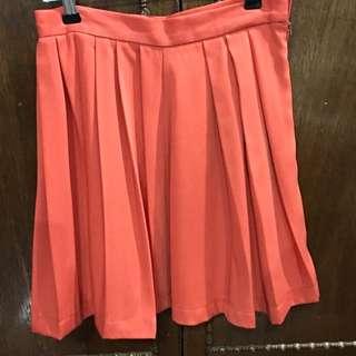 Pleated Skirt Above The Knee Length