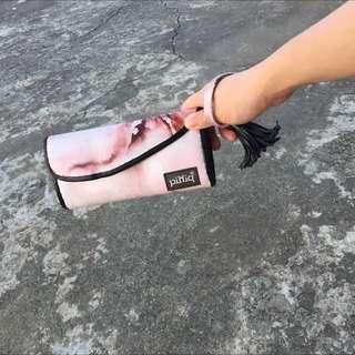 粉紅浪漫~大理石磁釦皮夾