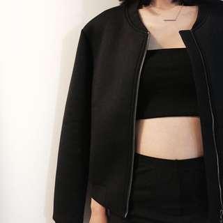 H&M black strap top