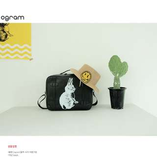 韓國Ogram正韓商品旅行包提包兔子黑