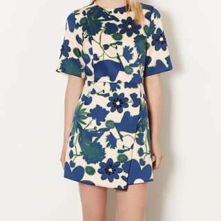 !NEW With Tags! TopShop Floral Embellished Asymmetric Dress