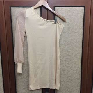Dress Korea Lengan Satu (With Tags)