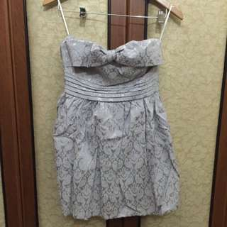 Gaun Pesta Dress Mini Ungu (With tags)