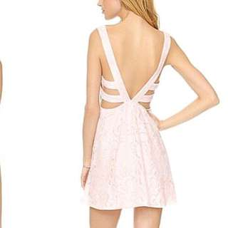 !NEW WITH TAGS! Free people turn back time ballet pink lace dress