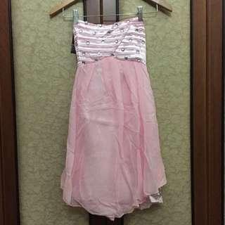 Dress Pink Korea Gaun Pesta (New With Tags)