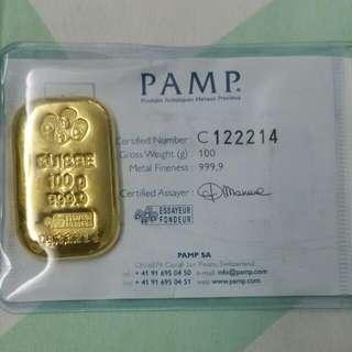 Gold PAMP Cast Bar