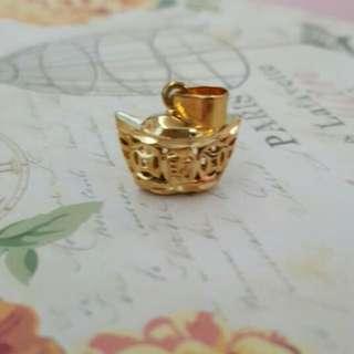 "Gold Plated "" Yuan Bao"" Pendant"