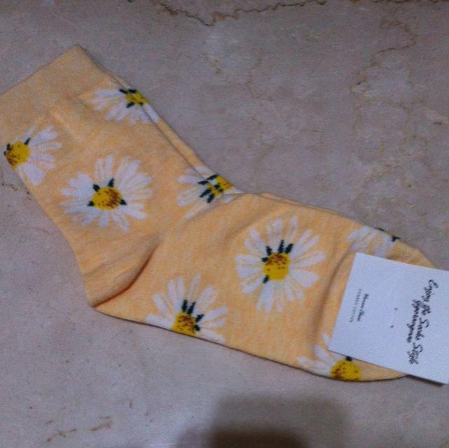 韓國帶回小雛菊短襪