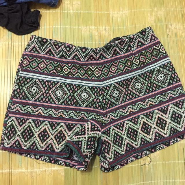 泰國帶回 民族風 高腰褲 L