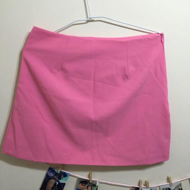 粉紅 A字裙 Xl