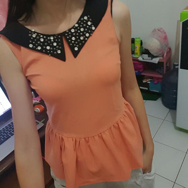 Atasan Korean Style Orange