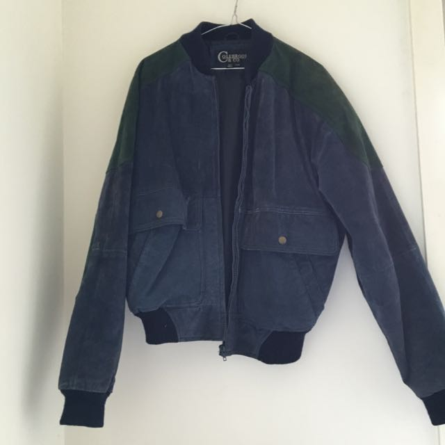 Authentic Suede Vintage Bomber Jacket