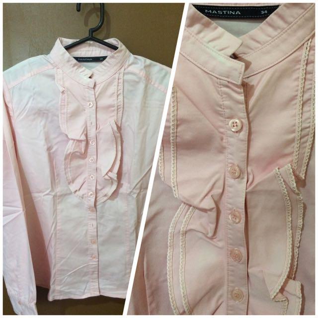baby pink Mastina blouse