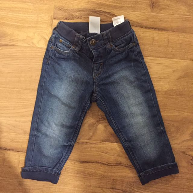 Boys Lined H&M Jeans Size 12-18 Months