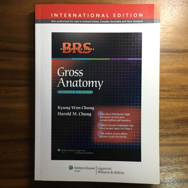 Brs Gross Anatomy 7th Ed Books Stationery Textbooks On Carousell