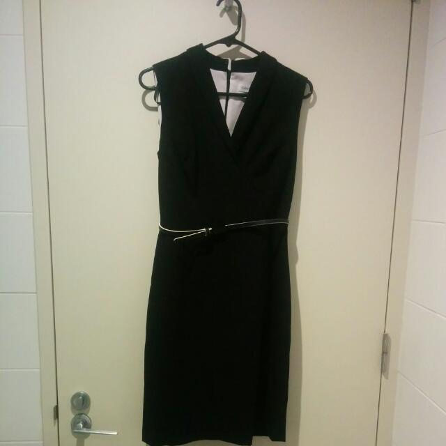 Calvin Klein black work dress