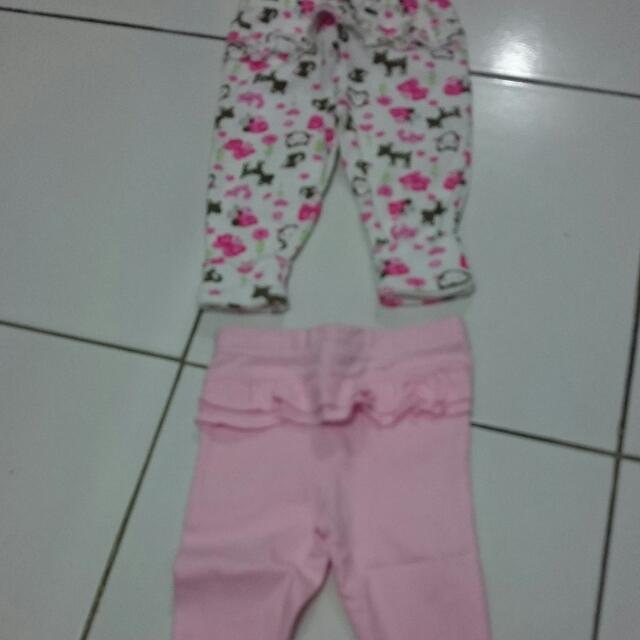 Celana Carters Legging Tanpa Tutup Kaki (2bh)